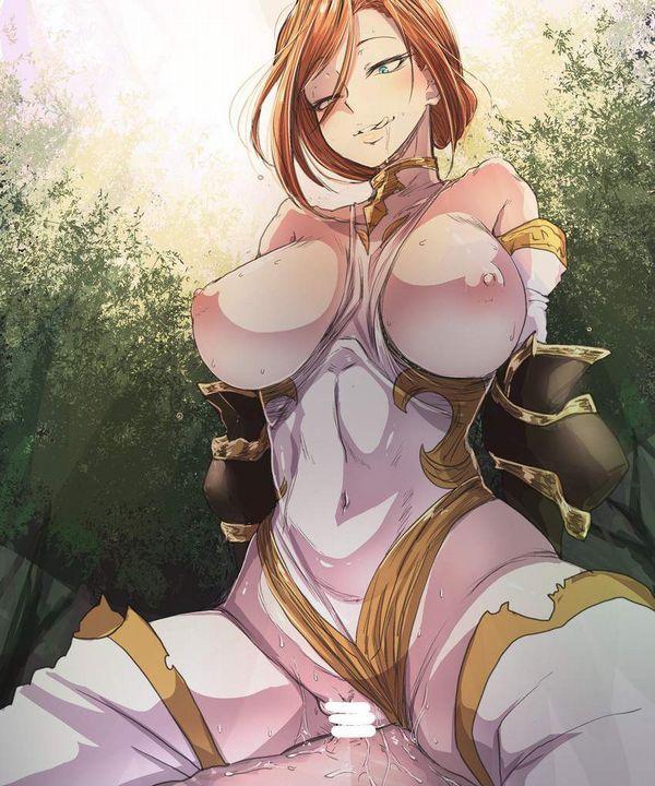 【邪魔じゃない?】鎧とか甲冑とかつけたままセックスしてる二次エロ画像【12】