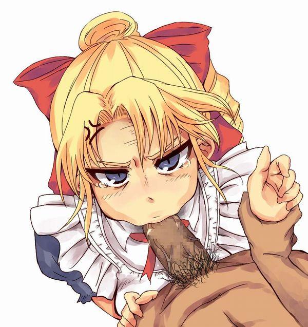 【しゃぶってよ】不服そうにフェラチオする女子達の二次エロ画像【怒ってんの?】【5】