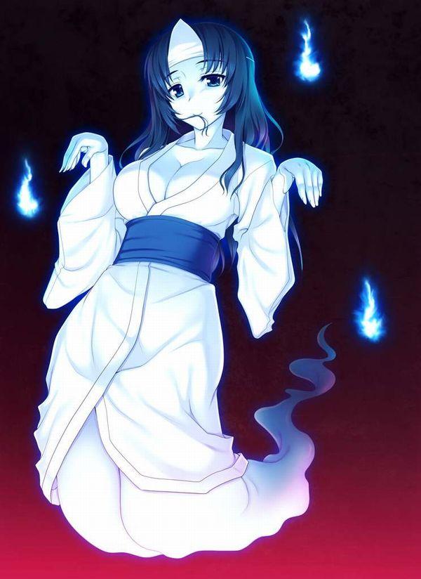 【伝統スタイル】額に三角のアレをつけた女幽霊の二次エロ画像【7】