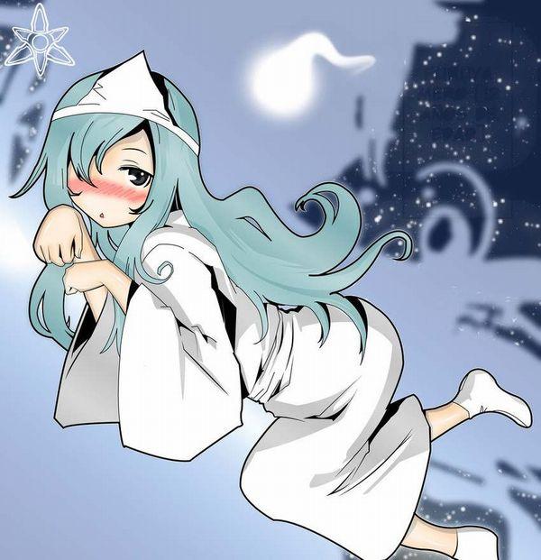 【伝統スタイル】額に三角のアレをつけた女幽霊の二次エロ画像【19】