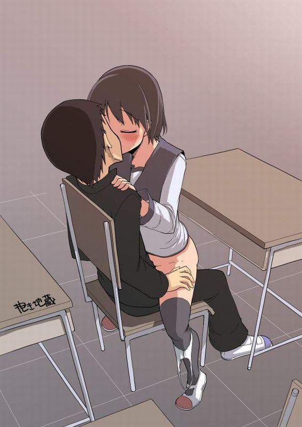 【そういうお年頃】教室で普通にセックスしてる高校生カップルの二次エロ画像【30】