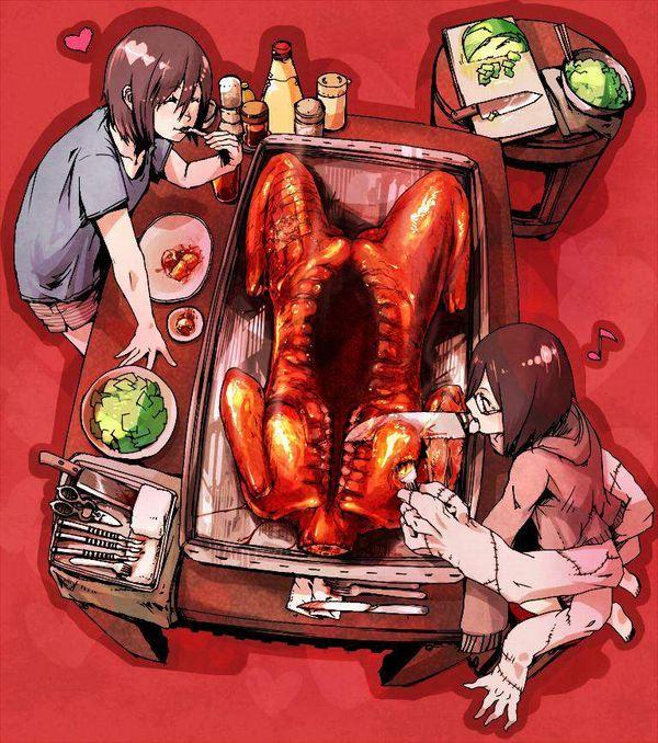 【現代的カニバリズム】食材としておいしく調理された女子達の二次エログロ画像【8】