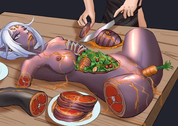 【現代的カニバリズム】食材としておいしく調理された女子達の二次エログロ画像【11】