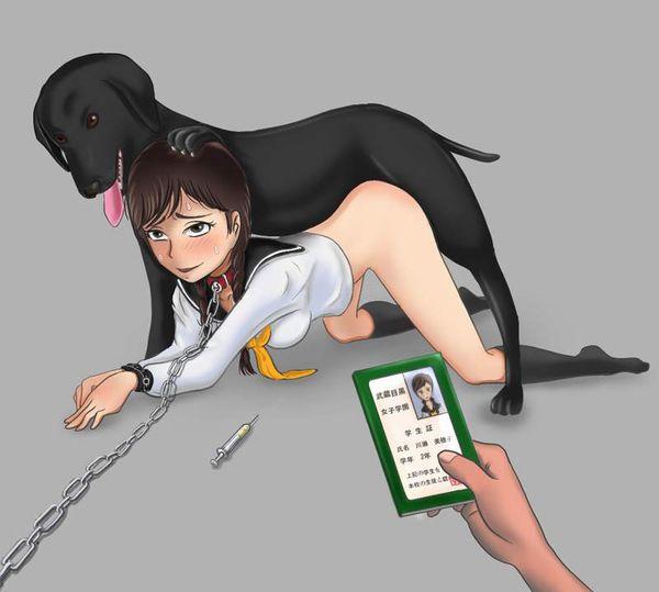 【正にドギースタイル】犬にバックで突かれてる女子達の二次エロ画像【13】