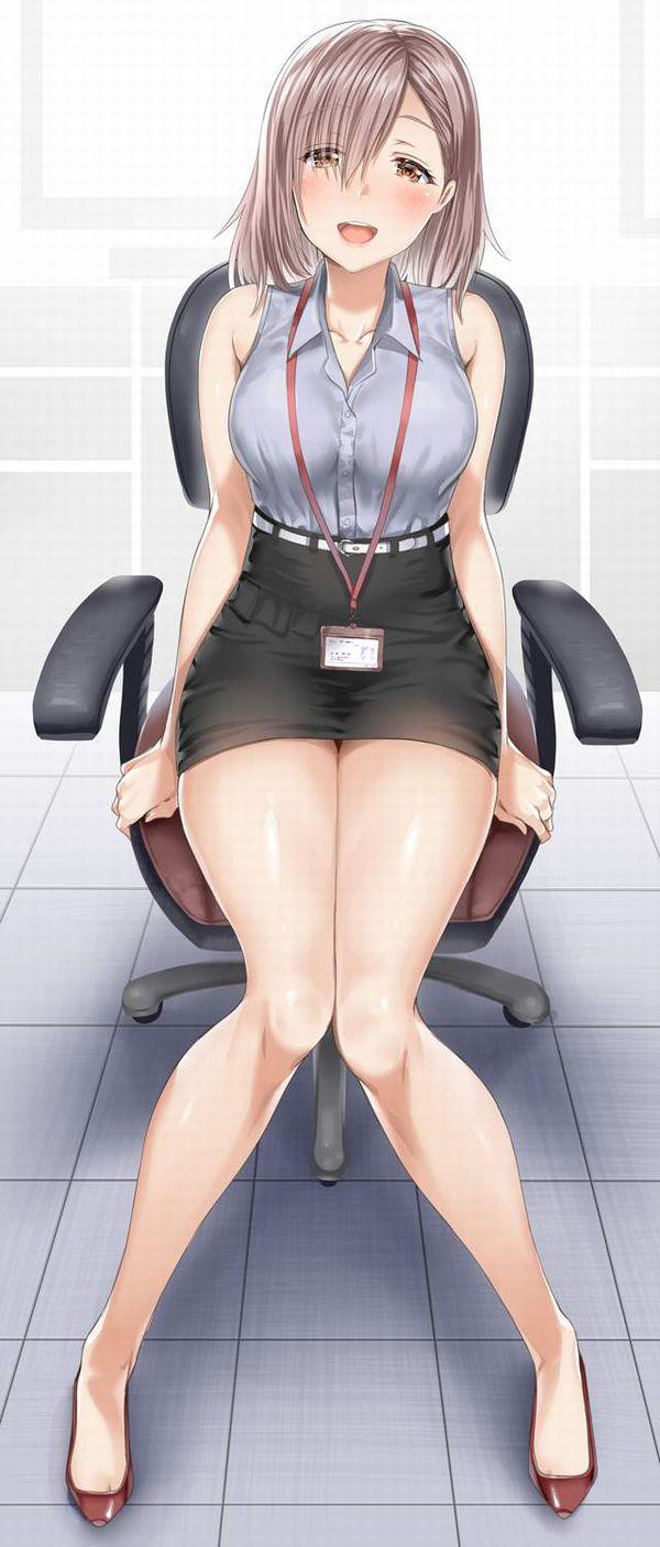 【夏OLの装い】ノースリーブシャツを着た女子達の二次エロ画像【5】