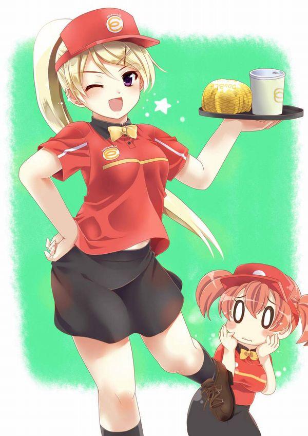 【初バイトで選びがち】ハンバーガー屋でバイトする女子達の二次エロ画像【19】