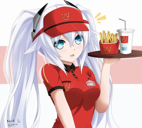 【初バイトで選びがち】ハンバーガー屋でバイトする女子達の二次エロ画像【26】