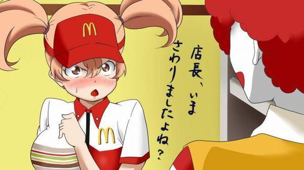 【初バイトで選びがち】ハンバーガー屋でバイトする女子達の二次エロ画像【31】