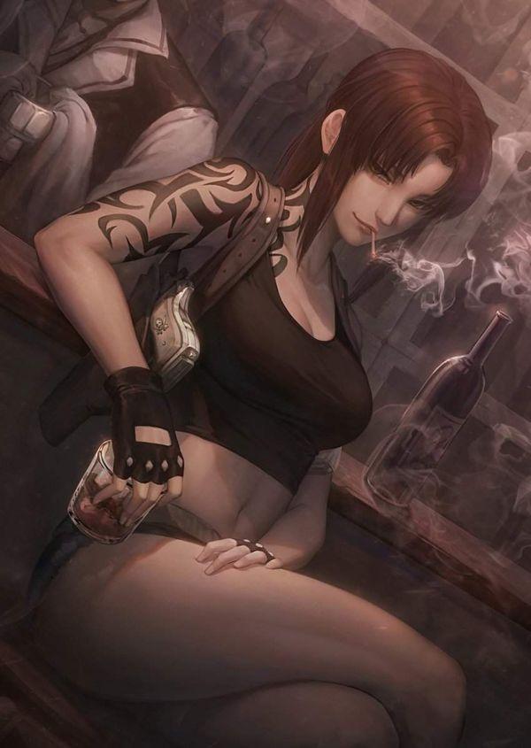【新橋の女は】酒とタバコを嗜むやさぐれ系女子の二次画像【宝くじしか買わねえ】【15】
