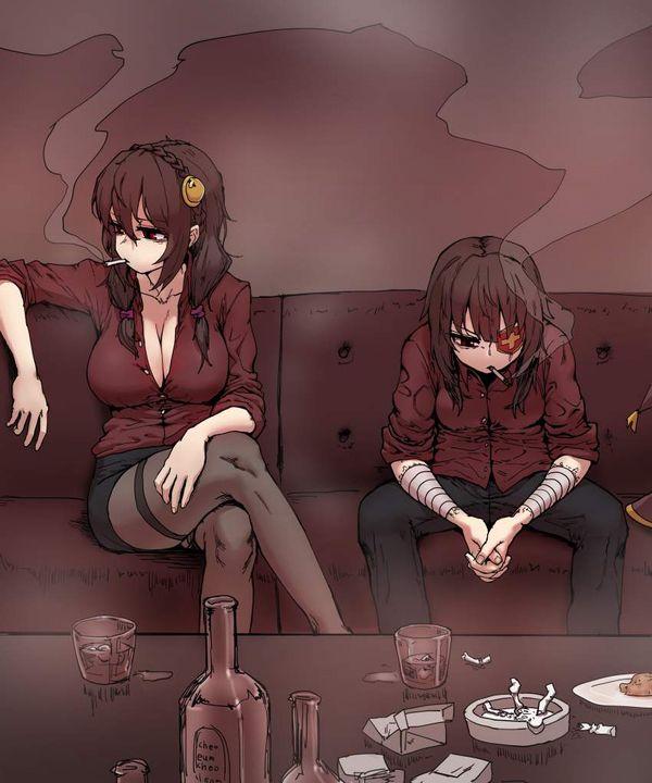 【新橋の女は】酒とタバコを嗜むやさぐれ系女子の二次画像【宝くじしか買わねえ】【21】