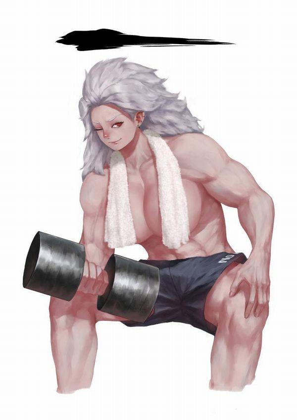 【ガチめの筋肉勢】ダンベルを使ったトレーニングをする女子達の二次エロ画像【20】