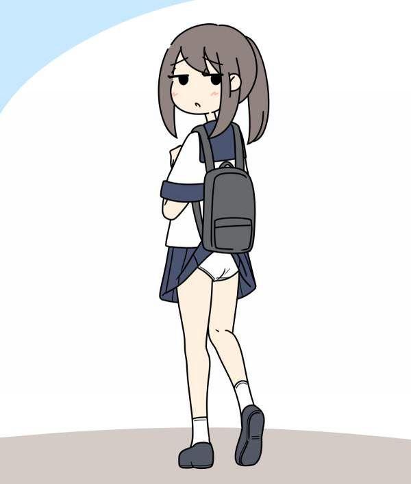 【女子高生の日常】カバンにスカートが引っかかってパンチラしてる二次エロ画像【22】