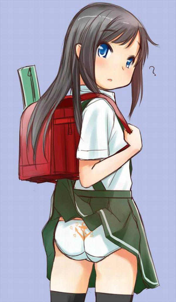 【女子高生の日常】カバンにスカートが引っかかってパンチラしてる二次エロ画像【38】