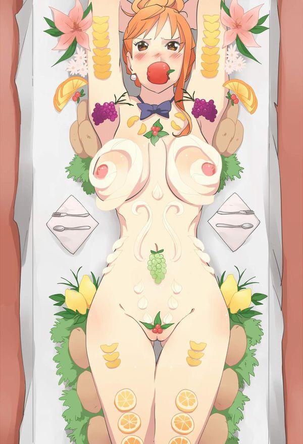 【女性客にも好評】スイーツ系女体盛りの二次エロ画像【31】