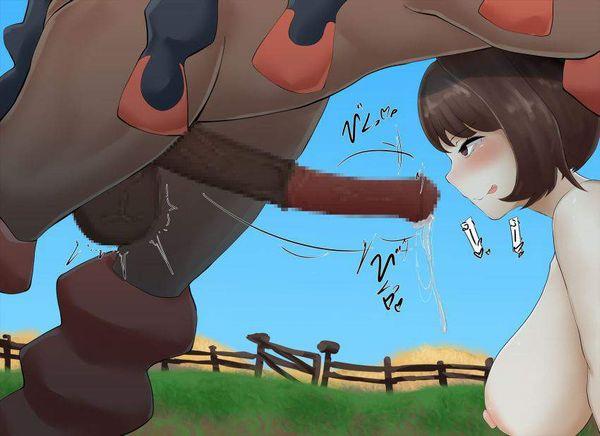 【お馬が時】馬の巨大チンポを膣で受け止めてるお姉さん達の二次エロ画像【28】