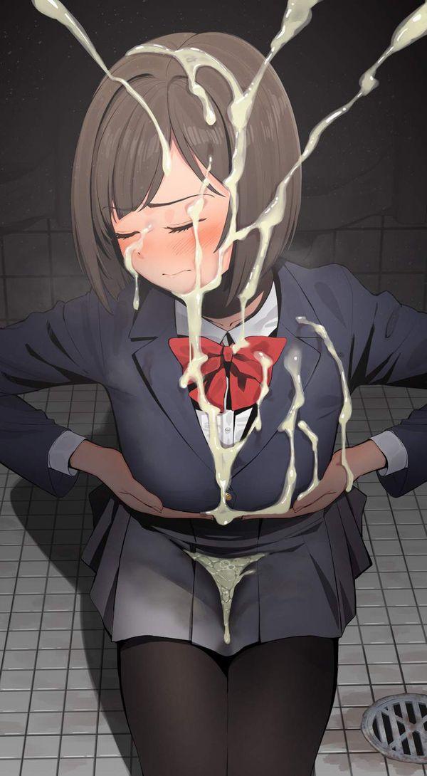 【帰宅困難者】洋服に思いっきりザーメンぶっかけられてる二次エロ画像【22】