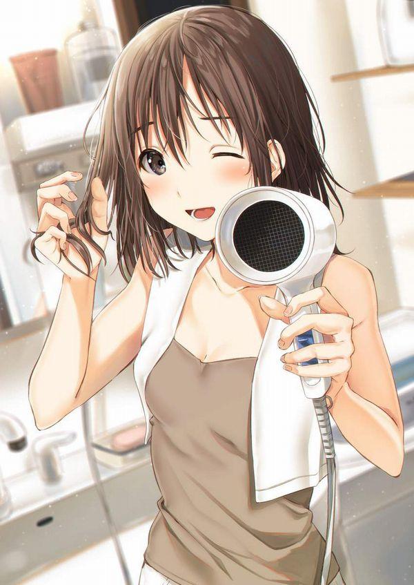 【女子力高い】ドライヤーで髪の毛を乾かす女子達の二次エロ画像【21】