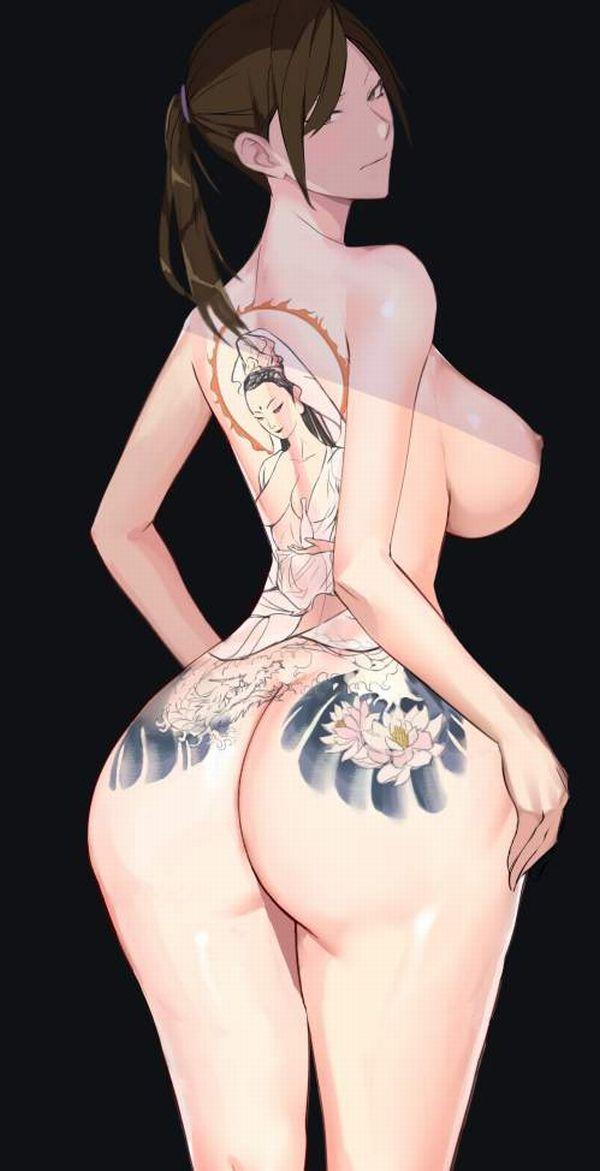 【日常生活に支障が出るレベル】ガッツリタトゥーが入った女性の二次エロ画像【2】