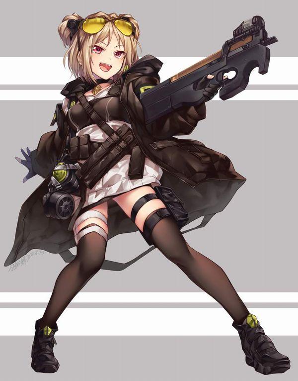 【ドールズフロントライン】P90(ぷろじぇくとないんてい)のエロ画像【少女戦線】【12】