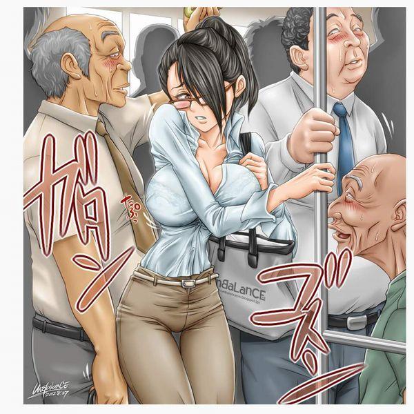 【テレワークのもう1つの意義】痴漢被害に会う通勤中OL達の二次エロ画像【12】