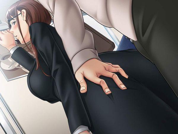 【テレワークのもう1つの意義】痴漢被害に会う通勤中OL達の二次エロ画像【21】