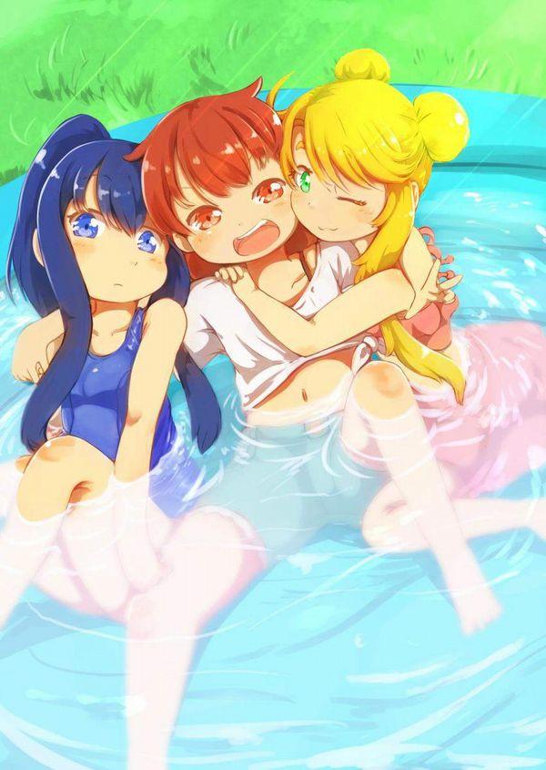 【ステイホーム】おうちでビニールプールを楽しむ女子達の二次エロ画像【32】