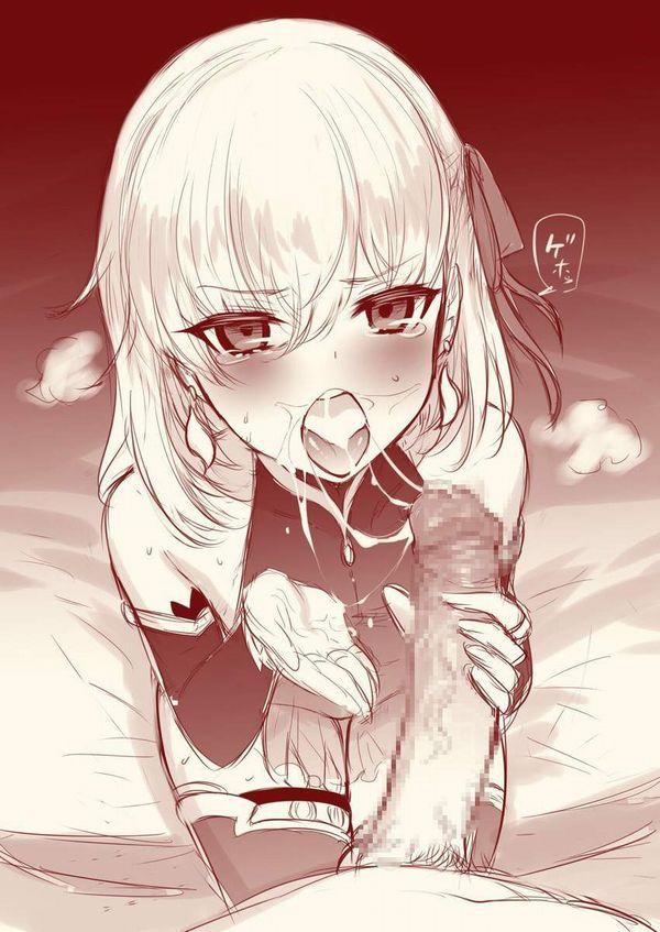 【口内射精直後】ザーメンがたっぷり詰まったお口の中を見せつける女子達の二次エロ画像【10】