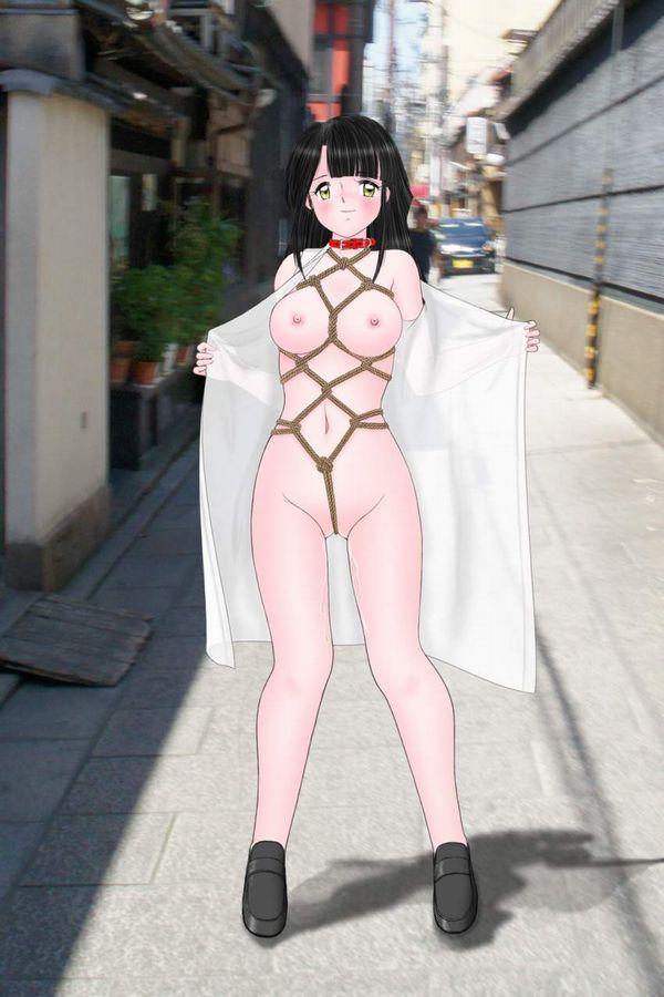 【種明かし】「実は洋服の下はこんな事になってました!」みたいな二次エロ画像【25】
