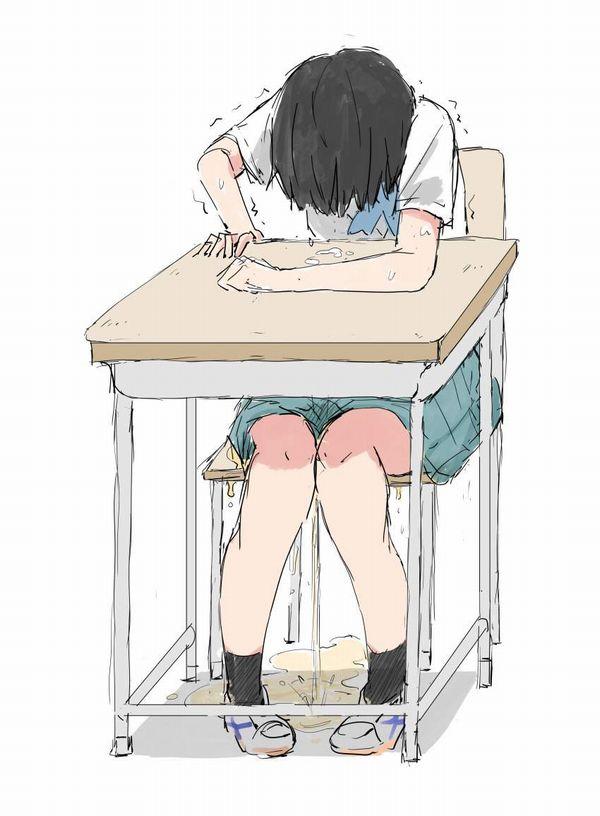 【学園生活終了】授業中にションベン漏らしたJK達の二次エロ画像【25】