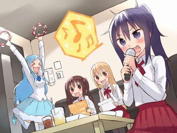 【放課後の定番】カラオケを楽しむ女子高生達の二次画像【27】