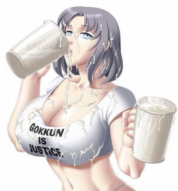【何十人分?】容器に入った凄い量のザーメンをゴクゴク飲んでる二次エロ画像【33】