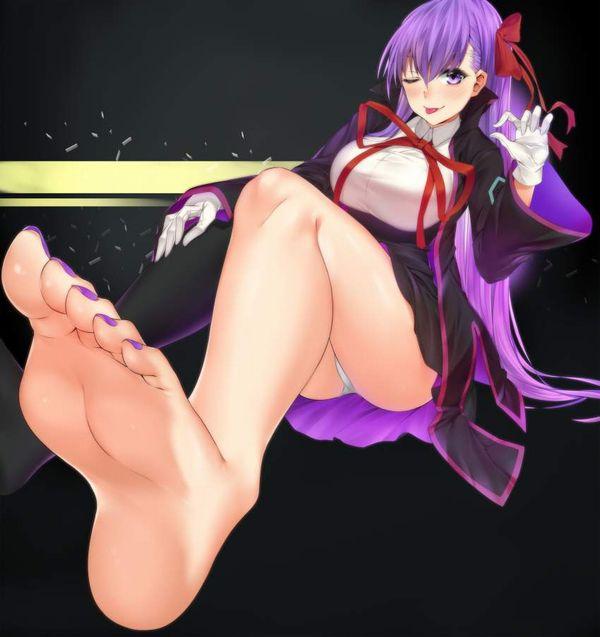 【無言のアピール】舐めて欲しそうに靴下片方だけ脱いでる女子の二次エロ画像【8】