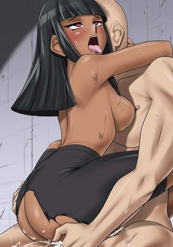 【せっかちさん】スパッツの股部分を破ってセックスしてる二次エロ画像【18】