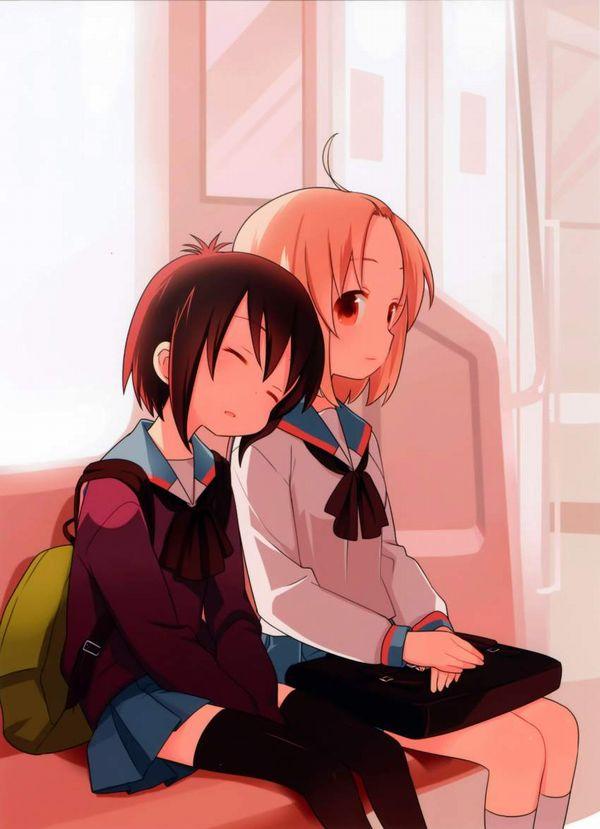 【お疲れ】電車内で寝ちゃってる女子達の二次画像【6】