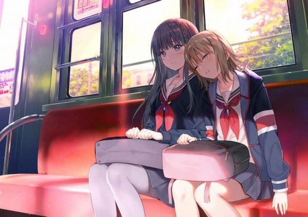 【お疲れ】電車内で寝ちゃってる女子達の二次画像【19】
