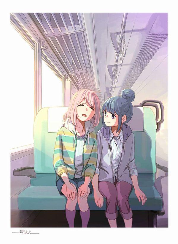 【お疲れ】電車内で寝ちゃってる女子達の二次画像【30】