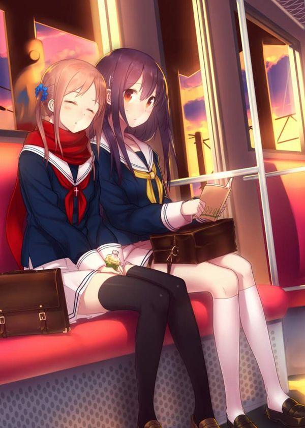 【お疲れ】電車内で寝ちゃってる女子達の二次画像【34】
