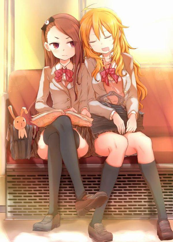 【お疲れ】電車内で寝ちゃってる女子達の二次画像【35】