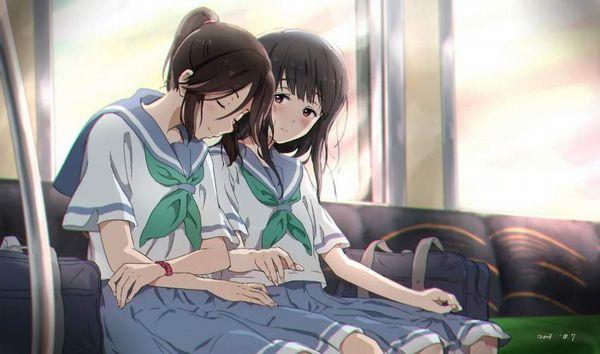 【お疲れ】電車内で寝ちゃってる女子達の二次画像【37】