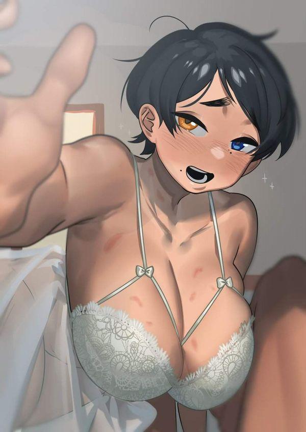 【ミスマッチ故の興奮】ボーイッシュショートヘアー爆乳女子の二次エロ画像【39】