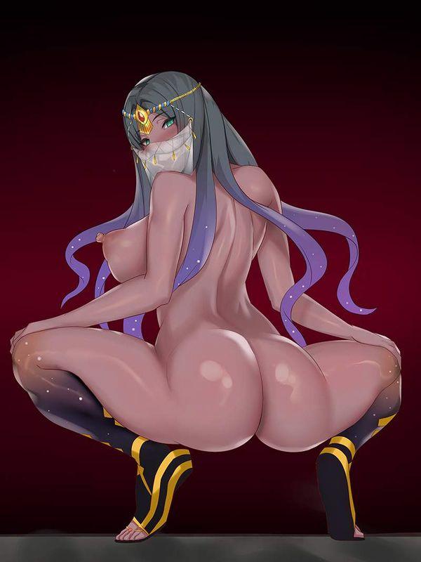 【プールのトイレあるある】全裸でウンコ座りしてる女子達の二次エロ画像【4】