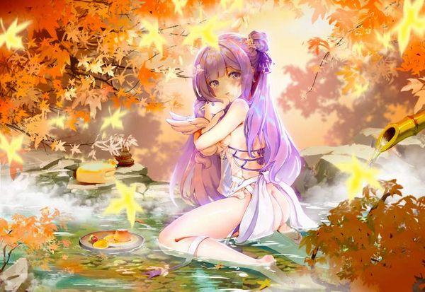 【風流】紅葉を眺めつつ露天風呂を楽しむ女子達の二次エロ画像【37】