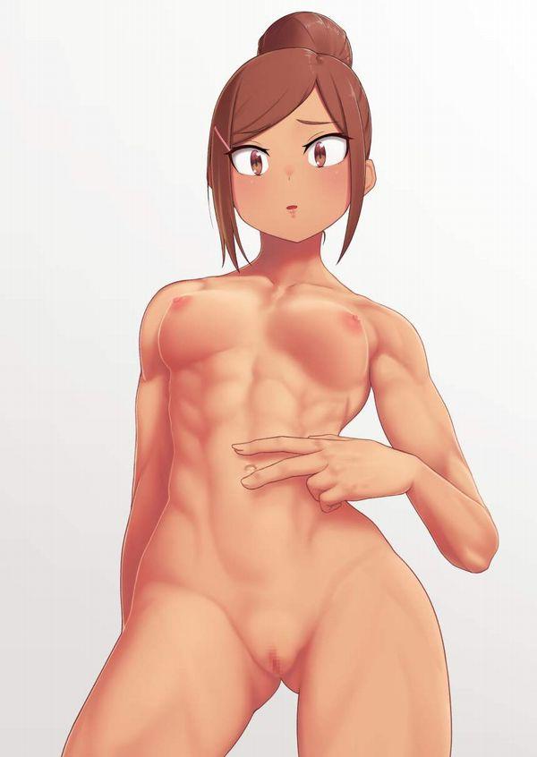【エロ本的な光景】全裸でピースしてる女子達の二次エロ画像【25】