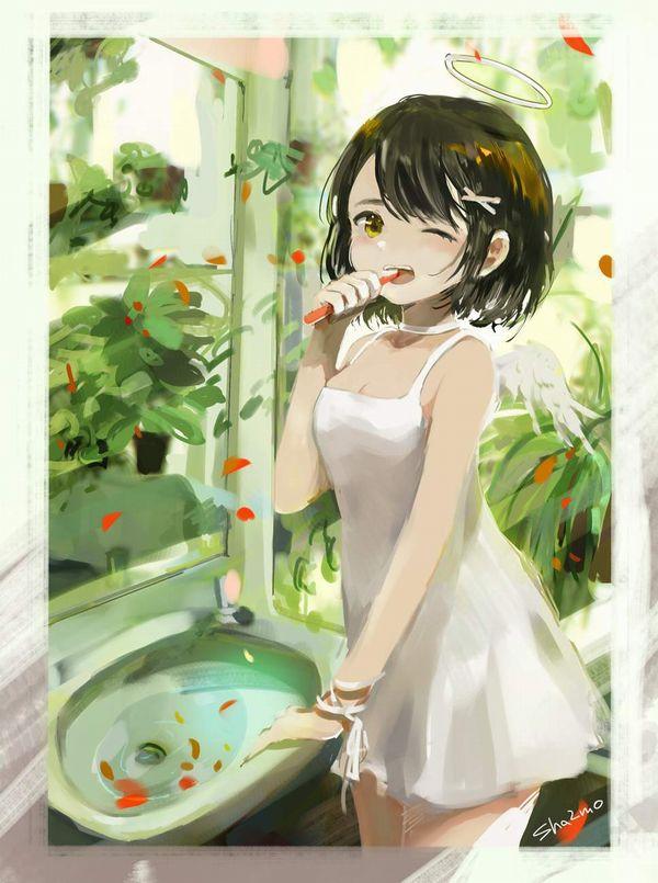 【適度に散らかってる】自宅洗面台で身支度をする女子達の二次エロ画像【26】