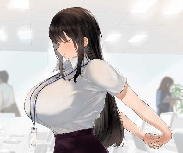 【時限装置】ボタン弾けそうな爆乳ブラウス女子の二次エロ画像【10】