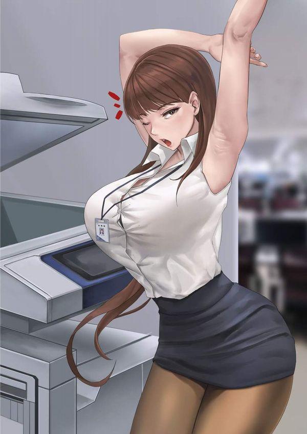 【時限装置】ボタン弾けそうな爆乳ブラウス女子の二次エロ画像【11】