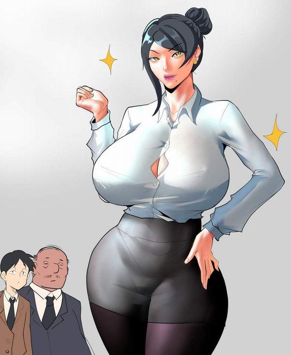 【時限装置】ボタン弾けそうな爆乳ブラウス女子の二次エロ画像【13】