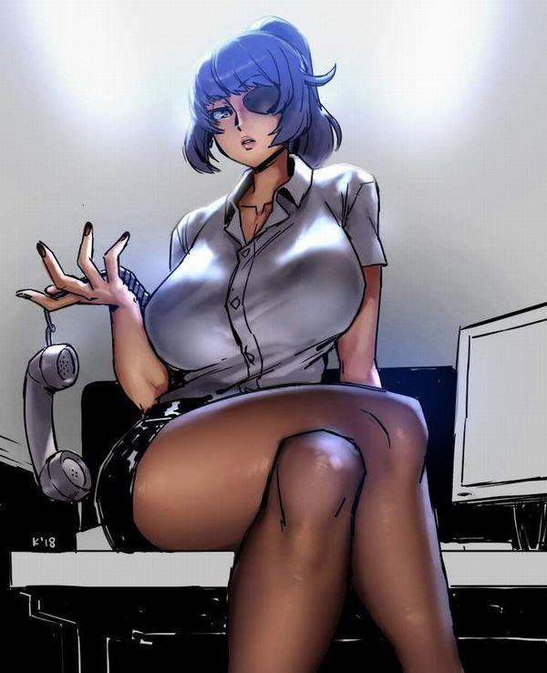 【時限装置】ボタン弾けそうな爆乳ブラウス女子の二次エロ画像【34】
