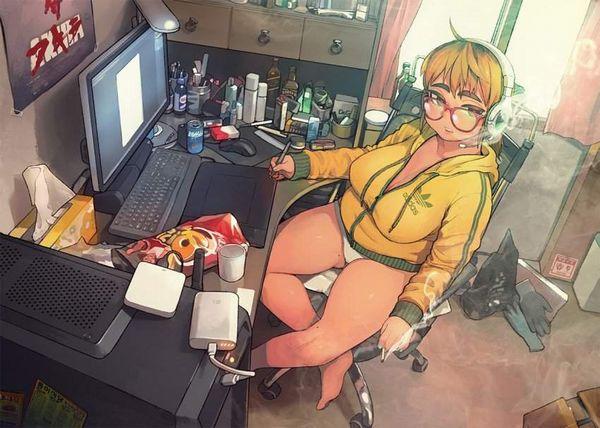 【G出そう】汚部屋に暮らす女子達の二次エロ画像【8】
