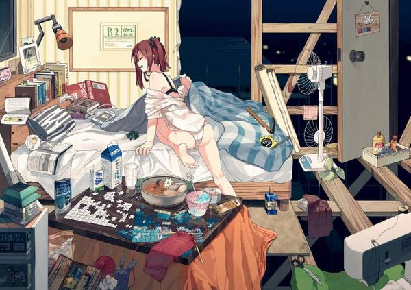 【G出そう】汚部屋に暮らす女子達の二次エロ画像【37】